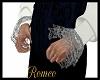 Grey Lace Cuffs