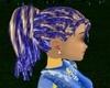 cheveux blonds bleus