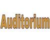 Auditorium 3D Sign