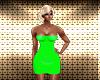 Green Pretty Mini Dress