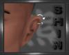 Left Hoop Ear Silver