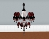 Chandelier red  n black