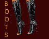 (A) Black Leather boots