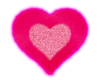 Pink Fuzzy Heart Sticker