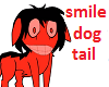 smile dog's tail
