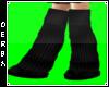 Blk Knit Cat Boots