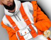 Orange Fin Coat+Vest Set