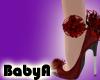 A BA Red Hot Mess Heels