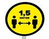 Houd 1,5 meter afstand!