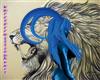animated blue horns