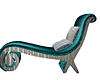 Teal/Silver Chaise