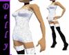 ~D~short white dress