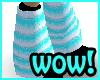 Huge blue monster boots