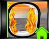 ! Animated Fire Letter O