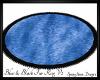 Blue&Blk Oval Fur RugV2