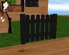 s~n~d black wood fence