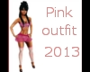 pink outfit 2013