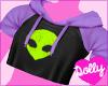 alien top purple