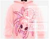 !J Pink Spider Hoodie M