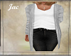 JAC..SWEATER SET LT GREY