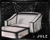 {J} White PVC Lounger