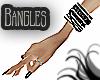 Blk Ring Bangles Rt Hand