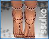 [ss] Feet Jewels Red