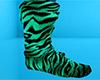 Green Tiger Stripe Socks
