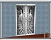 Silver Peacock Door