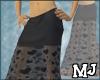 (T) Black heart skirt