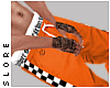 $ orange checker joggers