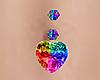 Rainbow Heart Belly Ring