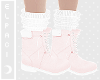 🌙. Pink Winter Boots