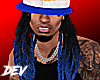 !D Dreads For Hats Blue