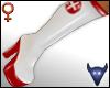 PVC nurse boots white(f)