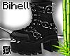 B! Spike Dark Boots