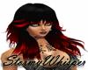 Wild black/red hair