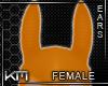 +KM+ PVC Horse Ears Orng