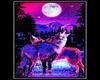 Blacklight Wolves Poster