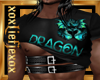 [L] DRAGON Teal Top M