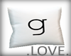 .LOVE. Letter g Pillo