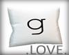 .LOVE. Letter g Pillo