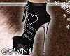 gowns - black boots