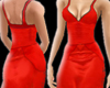 SN RedSatinLines Dress