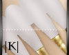 White/Gold Tip Nail 💋