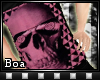 {BoA}Pink Skull V-Neck