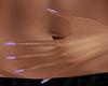 Purple Nails w/Stars {F}