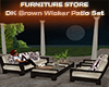 Dk Brn Wicker Patio Set