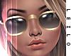 ! L! Gold Glasses