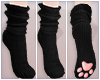 Paw Socks - black